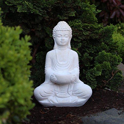 Buddha Deko-Figur mit Teelichthalter - Magnolia