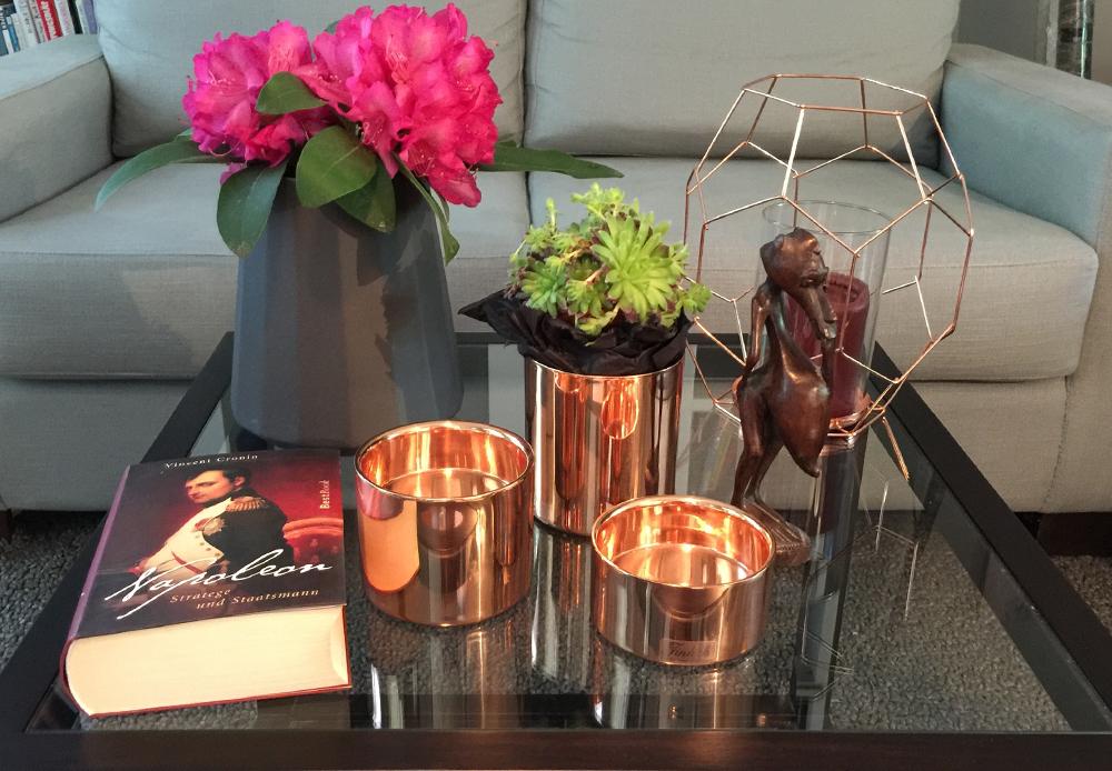 im trend einrichten und dekorieren mit accessoires aus kupfer. Black Bedroom Furniture Sets. Home Design Ideas