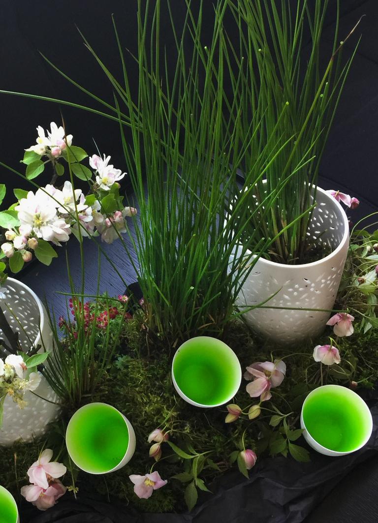 Tischdeko weiss für den Frühling