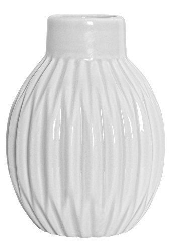 vase geriffelt matt wei magnolia. Black Bedroom Furniture Sets. Home Design Ideas
