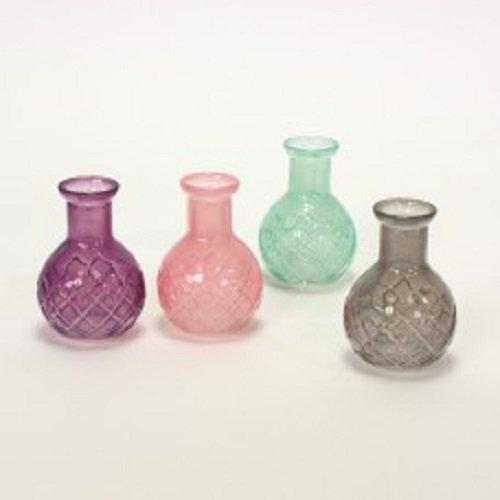 Glas Vasen Set 4er Bunt Mini