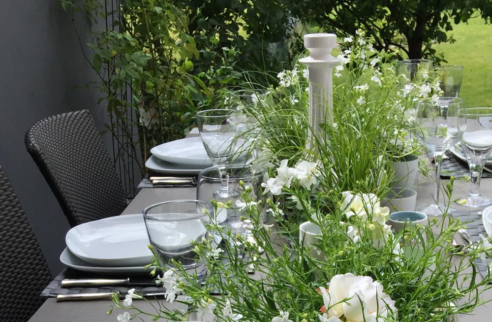 Sommer Tischdeko weiss