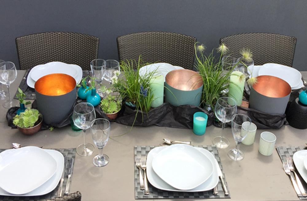 Windlichter XXL Sommer Tisch Deko