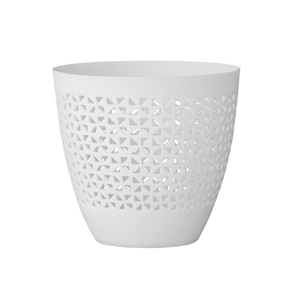 Bloomingville Teelichthalter   Porzellan weiss durchbrochen