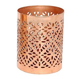 Teelichthalter Kupfer ausschnitt 3er set