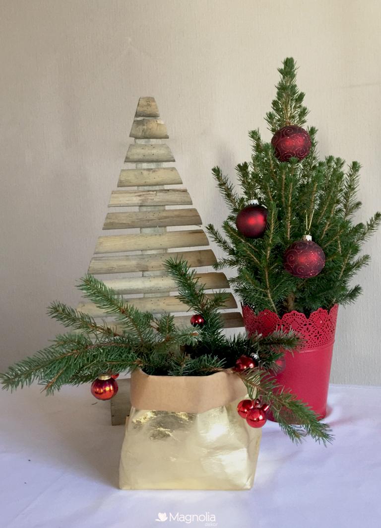 Sack Gold Lubech Living OOhh recycled Papier Wasserdicht Weihnachten